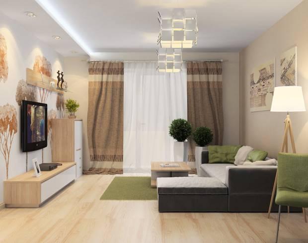 Интерьер квартиры для молодой семьи с ребенком