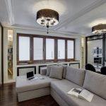 Современная классика в дизайне интерьера квартиры 70 кв.м.
