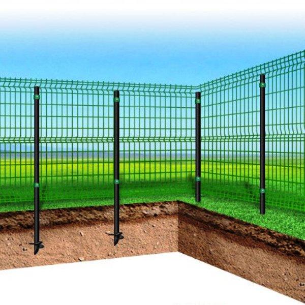Забор из профнастила на винтовых сваях своими руками