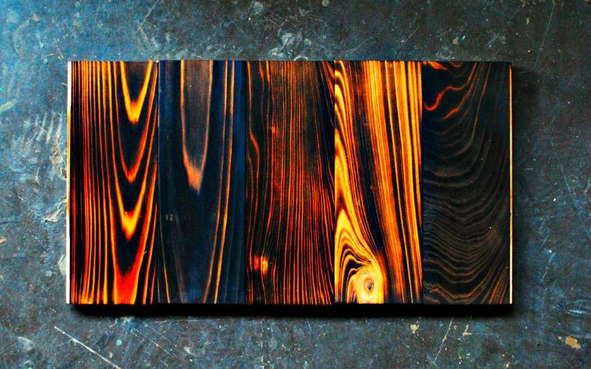 Технология обжига древесины